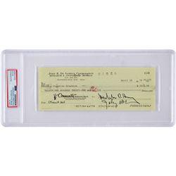 John DeLorean Signed Check and Ephemera Archive