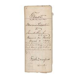 Frederick Douglass Document Signed