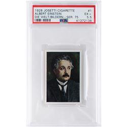 Albert Einstein 1928 Josetti Cigarette #1 PSA EX+ 5.5