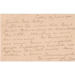 Willem Einthoven Autograph Letter Signed