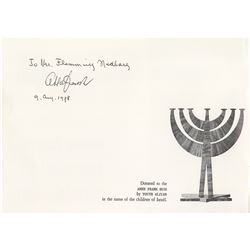 Otto Frank Signed Booklet