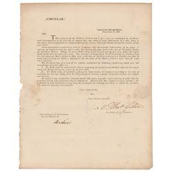 Albert Gallatin Document Signed