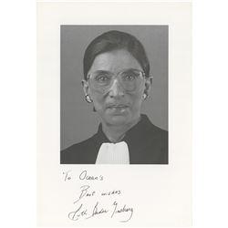 Ruth Bader Ginsburg Signed Photograph