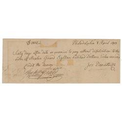 Stephen Girard Document Signed