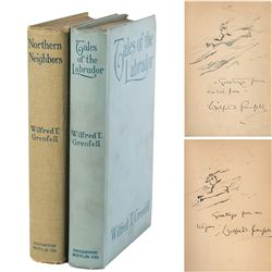 Wilfred T. Grenfell Signed Books with Sketches