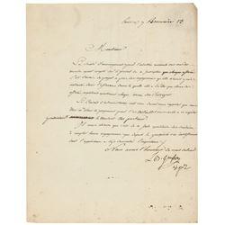 Louis-Bernard Guyton de Morveau Letter Signed