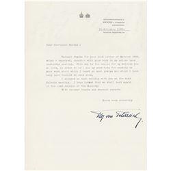 Otto von Habsburg Typed Letter Signed