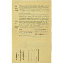 Harley-Davidson: Walter C. Davidson Document Signed