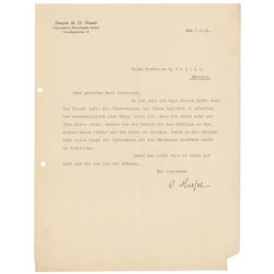 Odd Hassel Typed Letter Signed