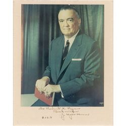 J. Edgar Hoover Signed Photograph