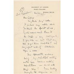 Julian Huxley Autograph Letter Signed