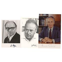 Israeli Nobel Peace Prize Winners (3) Signed Photographs