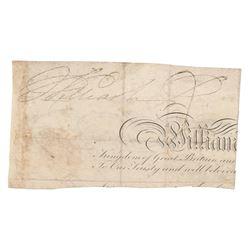 King William IV Signature