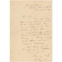 Peter Kropotkin Autograph Letter Signed