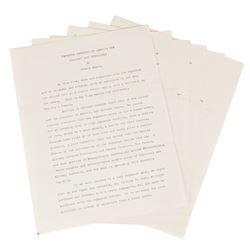 Hudson Maxim Typed Manuscript Signed