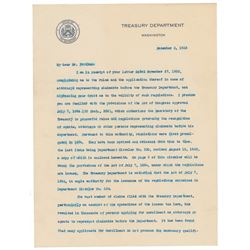 Andrew Mellon Typed Letter Signed