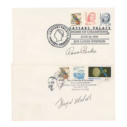 Rosa Parks and Thurgood Marshall Signed Covers