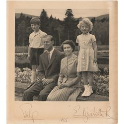 Queen Elizabeth II and Prince Philip Signed Christmas Card