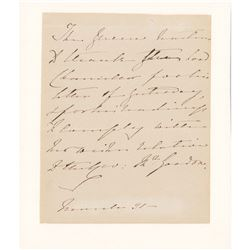 Queen Victoria Autograph Letter Signed