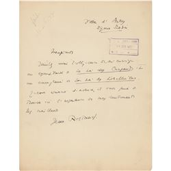 Jean Rostand Autograph Letter Signed