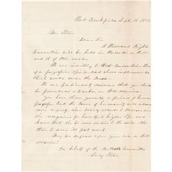 Lucy Stone Autograph Letter Signed