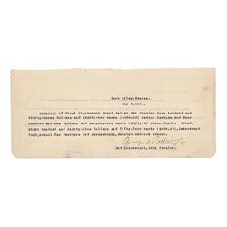 George S. Patton Document Signed