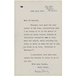 Robert Baden-Powell Typed Letter Signed