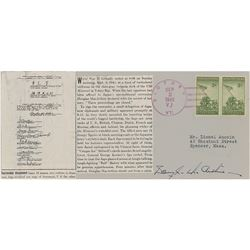 Douglas MacArthur Signed First Day Cover