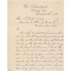 John M. Schofield Letter Signed