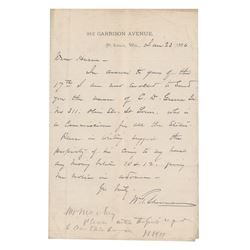 William T. Sherman and William Babcock Hazen Autograph Letter Signed