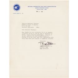 Buzz Aldrin Typed Letter Signed