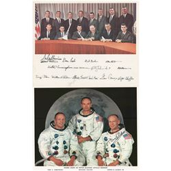 Buzz Aldrin and Michael Collins Signed Photographs