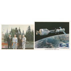 Apollo-Soyuz (2) Signed Photographs