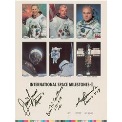 Astronauts Signed Trading Card Sheet