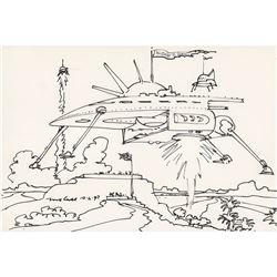 Robert McCall Signed Sketch