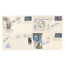 Alan Shepard and John Glenn (4) Signed Covers