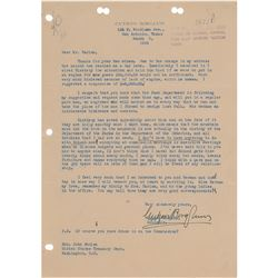Gutzon Borglum Typed Letter Signed