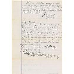 Mathew Brady Document Signed
