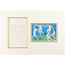 Henri Matisse Typed Letter Signed