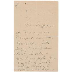 Henri de Toulouse-Lautrec Autograph Letter Signed