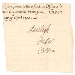 Christopher Wren Signature