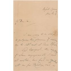 Thomas Lawrence Autograph Letter Signed