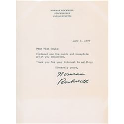 Norman Rockwell Typed Letter Signed