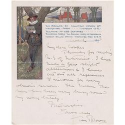 Tom Browne Autograph Letter Signed