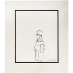 Matt Groening Signed Production Drawing