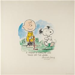 Charles Schulz Signed Lithograph