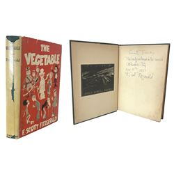 F. Scott Fitzgerald Signed First Edition of The Vegetable