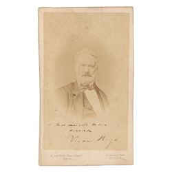 Victor Hugo Signed Photograph