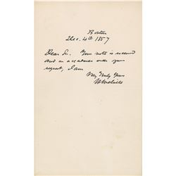 Herman Melville Autograph Letter Signed