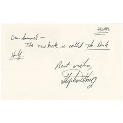 Stephen King Autograph Letter Signed